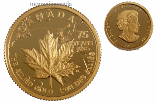 2015 - $75 - 1/4 oz. Pure Gold Coin - Allied Gold