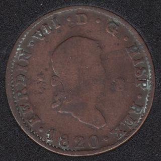 1820 - 8 Maravedis - Espagne