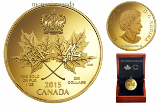 2015 - $200 - 1 oz. Pure Gold Coin – A Historic Reign