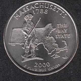 2000 D - Massachusetts - 25 Cents