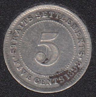 1893 - 5 Cents - Straits Settlements