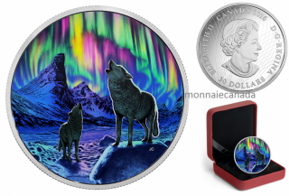 2016 - $30 - 2 oz. Fine Silver Glow-in-the-Dark Coin – Northern Lights in the Moonlight