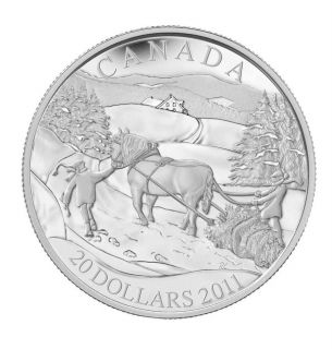 2011 - $20 - Sterling Silver Coin - Winter Scene
