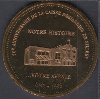 Sillery - 1993 - 1943 - 50° Ann. Caisse Populaire de Sillery - $2 Trade Dollar