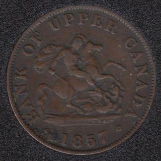 P.C. 1857 Bank of Upper Canada Half Penny - VF - PC-5D