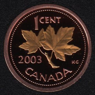 2003 - Proof - Plaqué Or - OE - Canada Cent