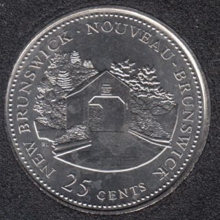 1992 - #1 B.Unc - New Brunswick - Canada 25 Cents