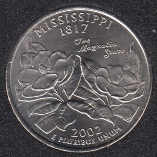 2002 D - Mississippi - 25 Cents