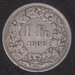 1906 B - 1 Franc - Suisse