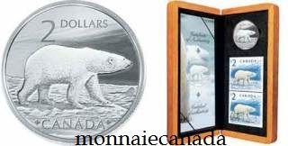 2004 - $2 L'imposant Ours polaire Pièce et Timbre Edition Limité
