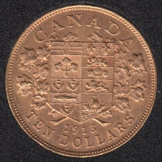1913 Canada $10 Dollars Gold Coin