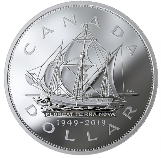 2019 - $1 - 5 oz. Pure Silver Coin - 70th Anniversary of Newfoundland Joining Canada