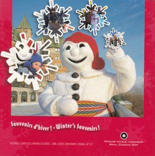 2006 Carnaval Québec - Ensemble Cadeau - 25 cents Coloré