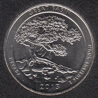 2013 D - Great Basin - 25 Cents