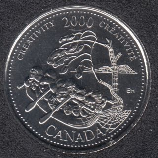 2000 - #910 NBU - Creativity - Canada 25 Cents