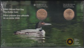 2006 Canada Dollar - Loonie - Official First day -  Logo