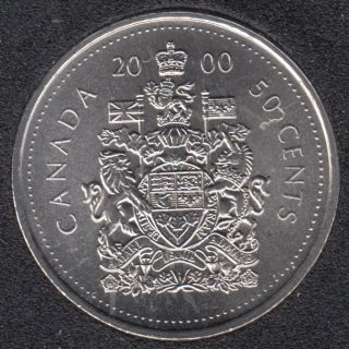 2000 - B.Unc - Canada 50 Cents