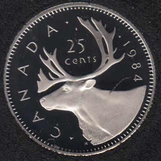 1984 - Proof - Canada 25 Cents