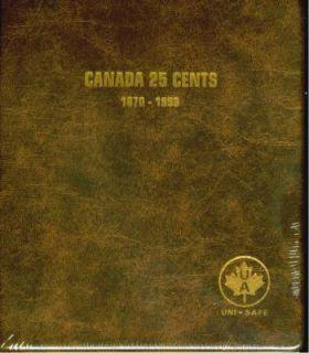 Album Canada Uni-Safe 25 Cents 1870-1999