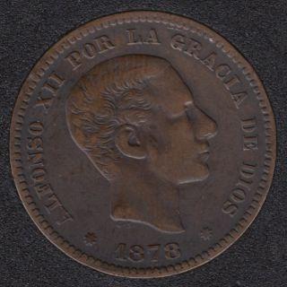 1878 - 5 Centimos - EF - Espagne