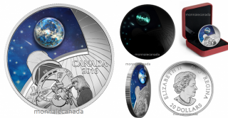 2016 - $20 - 1 oz. Fine Silver Coin – The Universe: Glow-in-the-Dark Glass with Opal