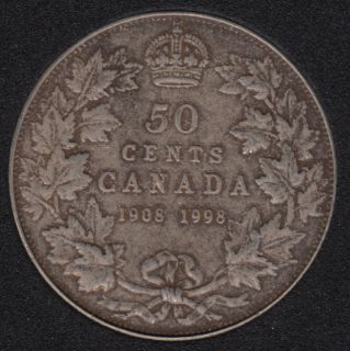 1998 - 1908 - Proof - Argent - Canada 50 Cents