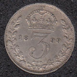 1899 - 3 Pence - Grande Bretagne