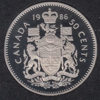 1986 - Proof - Canada 50 Cents
