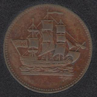 P.E.I. Ship Colonies & Commerce - Half Penny Token - PE-10-12