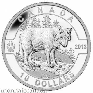 2013 - $10 1/2 oz Fine Silver Coin - The Wolf