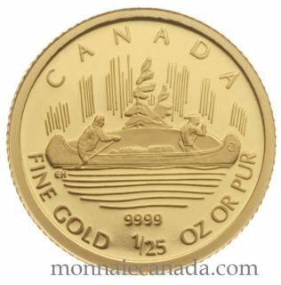2005 -  50 Cents - 1/25 OZ Fine Gold - Voyageur