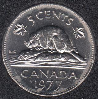 1977 - B.Unc - High '7' - Canada 5 Cents
