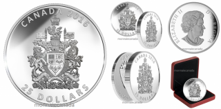 2016 - $25 - 1 oz. Fine Silver Piedfort – The Coat of Arms of Canada