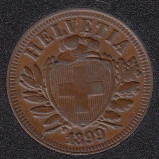 1899 B - 2 Rappen - Switzerland