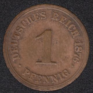 1876 F - 1 Pfennig - Germany