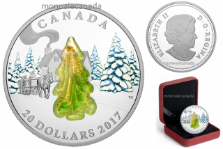 2017 - $20 - 1 oz. Pure Silver Coin – Murano Snow-Covered