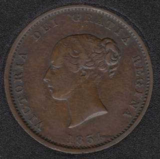 N.B. 1854 Victoria Dei Gracia Regina - Half Penny Token Currency NB-1B