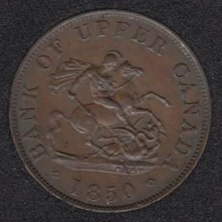 P.C. 1850 One Half Penny Bank Token - PC5A