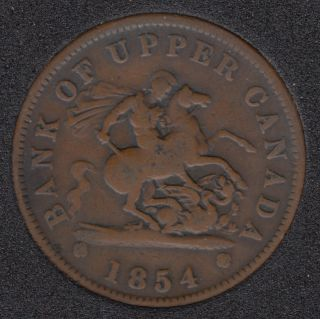 P.C. 1854 Bank of Upper Canada Penny PC-6C1