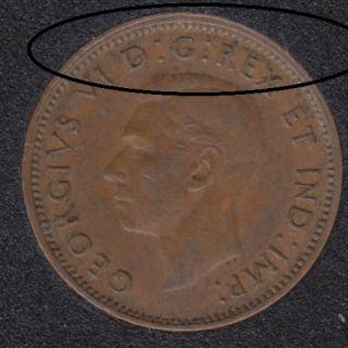 1947 - Double Rim - Canada Cent