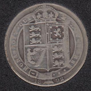 1892 - Shilling - Grande Bretagne