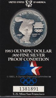 1983 - Proof - Olympic Silver Dollar