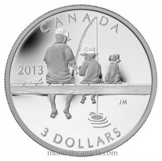 2013 - Fine Silver Coin - Fishing $3