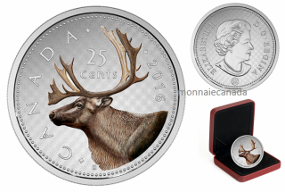 2016 - 25 Cents - 5 oz. Fine Silver Coloured Coin – Big Coin Series: 25 Cents