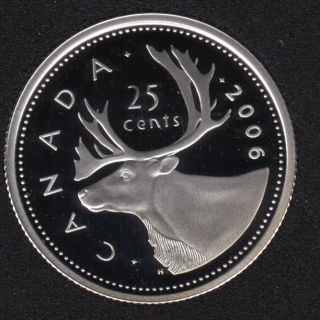 2006 - Proof - Argent - Canada 25 Cents