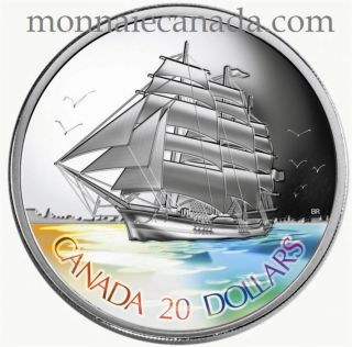 2005 - $20 Fine Silver Coin Tall Ships Three-Masted Ship Hologram - Tax Exempt