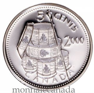 2000 - 5 ¢ - Proof Sterling Silver - Voltigeurs de Quebec