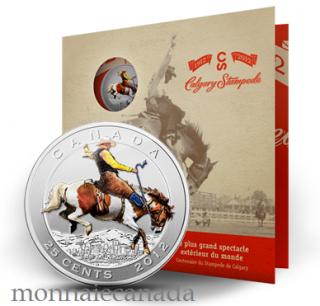 2012 Calgary Stampede - Ensemble Timbre et 25 cent coloré