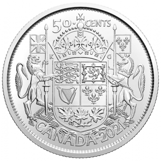 2021 - B.Unc -  100th Anniversary of Canada's Coat of Arms - Canada 50 Cents