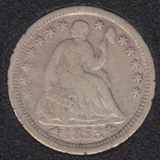 1853 - Liberty Seated - Arrows - Half Dime